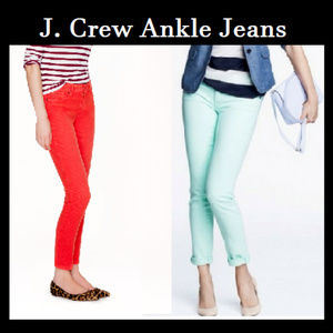 J. Crew Ankle Jeans Toothpick Jeans Set of Two